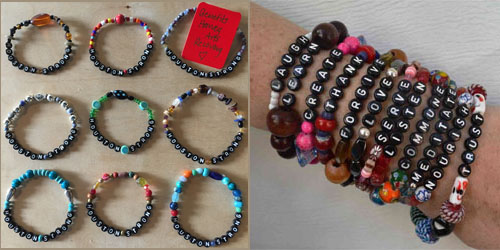 Houston Strong and Ignite Your Life! bracelets