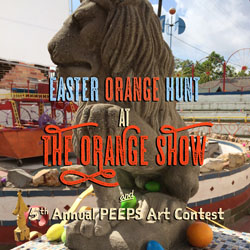 Easter Orange Hunt and Fifth Annual PEEPS Art Contest